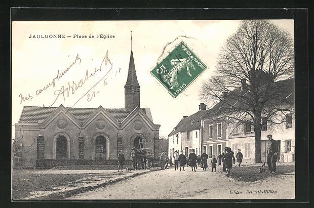 AK Jaulgonne, Place de l'Eglise
