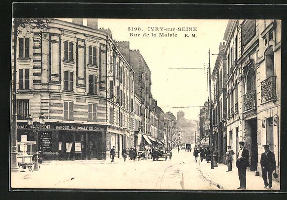 AK Ivry-sur-Seine, Rue de la Mairie