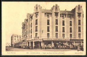 AK Casablanca, Angle des Rues Gallieni et Poincare