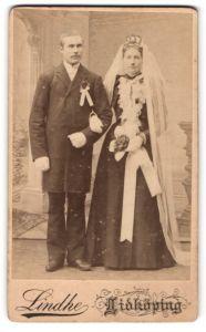 Fotografie Lindhe, Lidköping, Portrait Braut und Bräutigam, Hochzeit