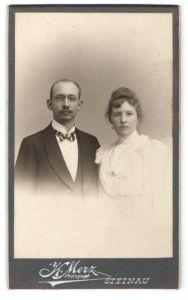 Fotografie K. Merz, Steinau, Portrait bürgerliche Eheleute