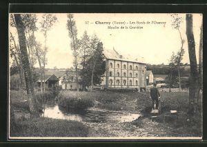 AK Charny, Les Bords de l`Ouanne, Moulin de la Gravière