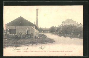 AK Villeneuve-l`Archeveque, La Scierie et l`Avenue de la Gare