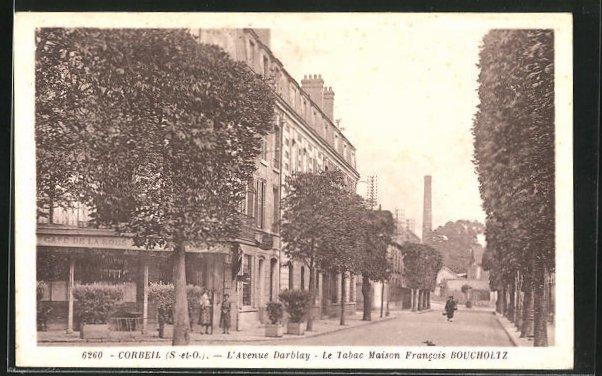 AK Corbeil, L'Avenue Darblay, Le Tabac Maison Francois Boucholtz