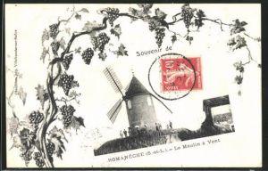 AK Romaneche, Le Moulin à Vent, Windmühle