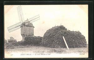 AK Saint-Briac, Le vieux Moulin à Vent, Alte Windmühle