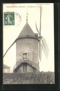 AK Romanèche-Thorins, Le Moulin à Vent, Windmühle