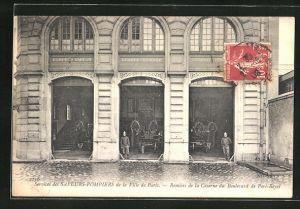 AK Paris, Services des Sapeurs-Pompiers, Remises de la Caserne du Boulevard de Port-Royal
