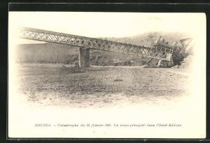 AK Bouira, Catastrophe 1907, Un train precipite dans l`Oued Eddous