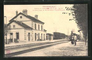 AK Chavanges, La Gare, Motiv vom Bahnhof