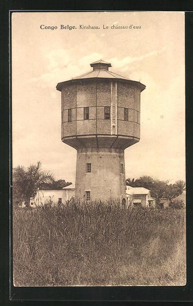 AK Kinshasa, Le Château d`Eau, Wasserturm