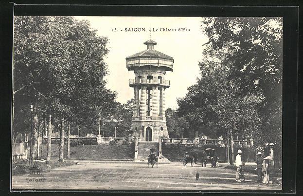 AK Saigon, Le Chateau d`Eau, Wasserturm