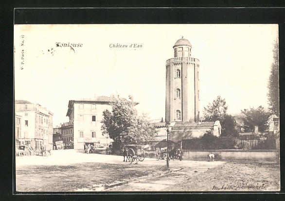 AK Toulouse, Chateau d`Eau, Blick zum Wasserturm