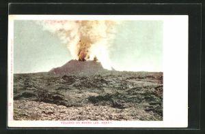 AK Mauna Loa, HI, Ausbruch eines Vulkans