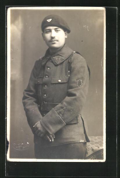 Foto-AK Alpenjäger in Uniform
