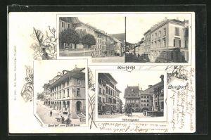 AK Burgdorf, Hohengasse, Gasthof zum Stadthaus, Mehrfachansicht Kirchbühl
