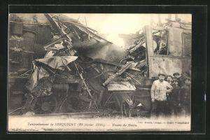 AK Serquigny, Tamponnement, Trains du Havre