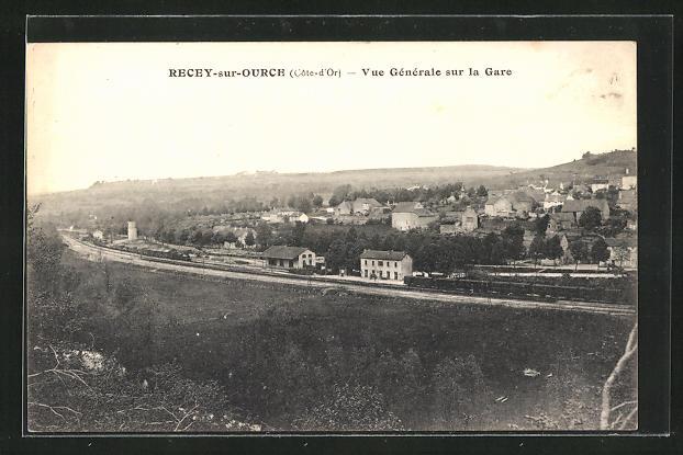 AK Recey-sur-Ource, Vue Generale sur la Gare, Bahnhof