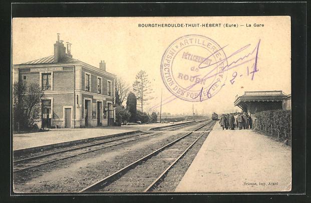 AK Bourgtheroulde-Thuit-Hebert, La Gare, Bahnhof mit Bahnsteig