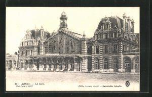 AK Arras, La Gare, Eingangsbereich vom Bahnhof