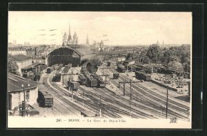 AK Dijon, La Gare de Dijon-Ville, Totalansicht vom Bahnhof