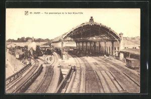 AK Dijon, Vue panoramique de la Gare Dijon-Ville, Bahnhof