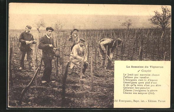 AK La Semaine du Vigneron: Le Jeudi que mauvaise chance..., Weinbauer