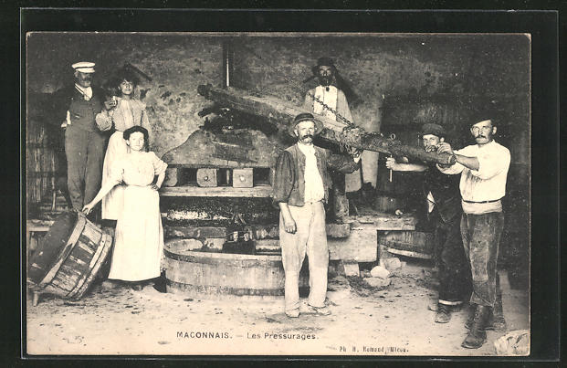 AK Maconnais, Les Pressurages, Weinpresse