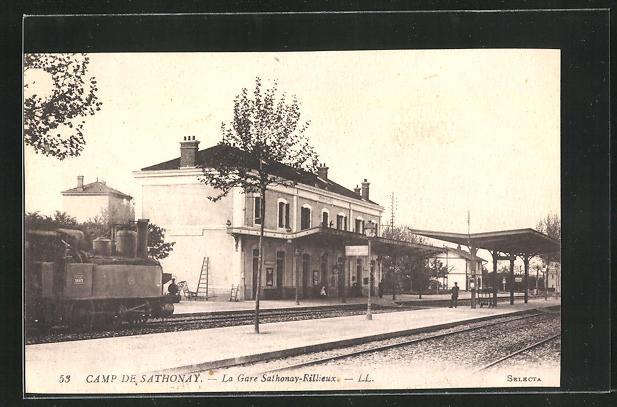 AK Camp de Sathonay, La Gare Sathonay-Rillieux 0