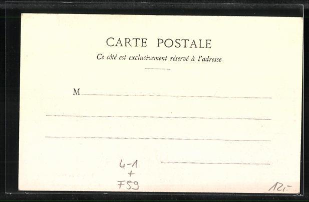 AK Frankreich, Greves d`Armentieres 1903, Salon incendie de M. Verley-Cary, Innenansicht 1