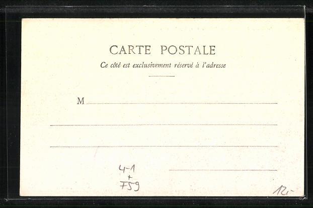 AK Frankreich, Greves d`Armentieres 1903, Salon de M. Delambre, Innenansicht 1