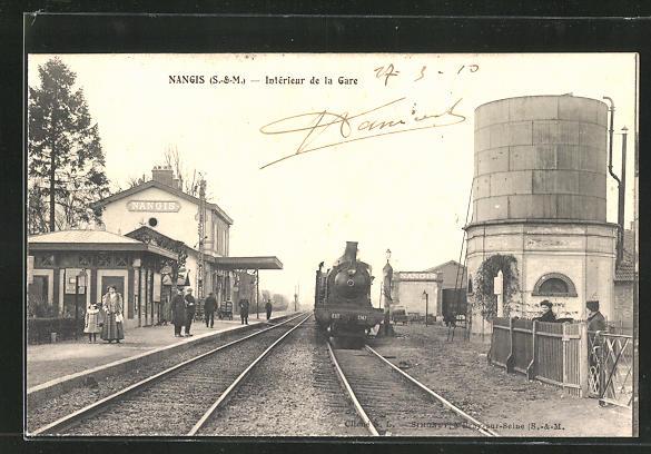AK Nangis, Interieur de la Gare