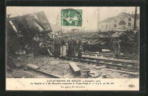 AK Melun, Catastrophe 4 Novembre 1913, un aspect des decombres
