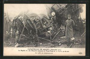 AK Melun, Catastrophe 4 Novembre 1913, les effets du tamponnement