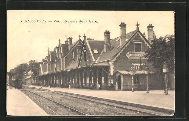 AK Beauvais, vue interieure de la Gare 0