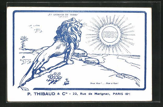 AK Medikament, Gibbs, Les animaux de Gibbs, P. Thibaud & Cie, 22 Rue de Marignan, Paris