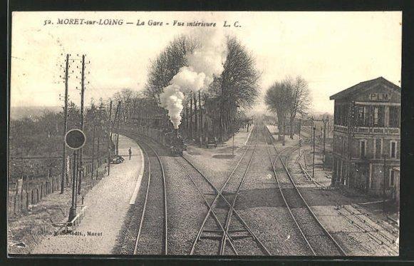 AK Moret-sur-Loing, La Gare, Vue interieure 0
