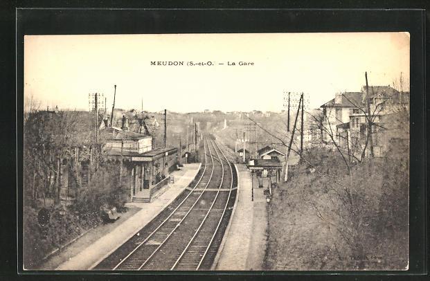 AK Meudon, La Gare, Blick zum Bahnhof 0