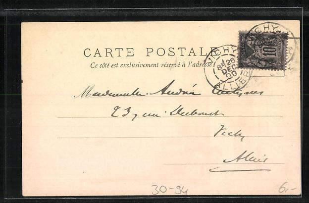 Lithographie Canonier a Pied 1814, Soldat in Uniform mit Bajonett 1