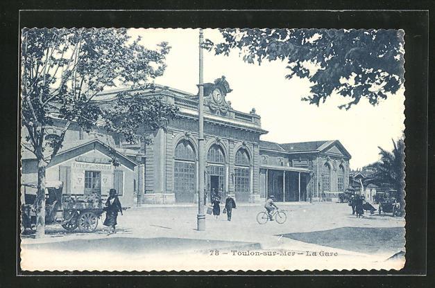 AK Toulon-sur-Mer, La Gare, Partie am Bahnhof 0