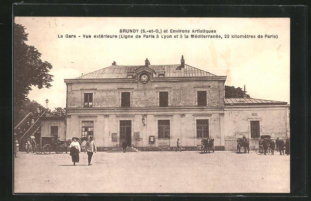AK Brunoy, La Gare, vue exterieure, Bahnhof 0