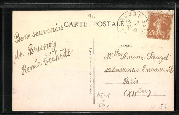 AK Brunoy, La Gare, vue exterieure, Bahnhof 1
