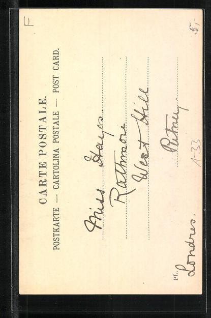 AK Georges Bizet, Portrait des Komponisten 1