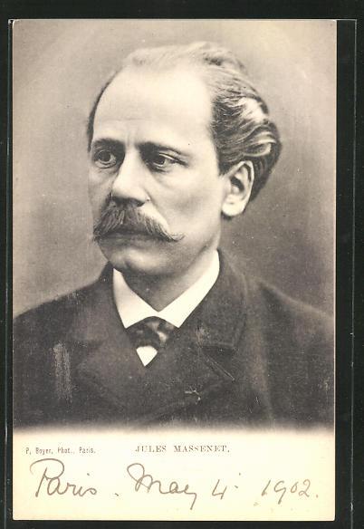 AK Jules Massenet, Portrait des Komponisten 0