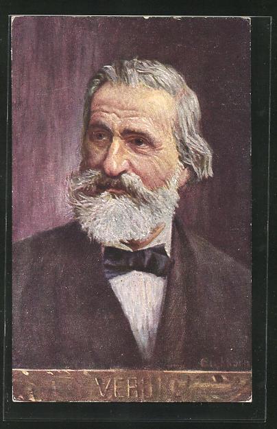 Künstler-AK Verdi, italienischer Komponist 0