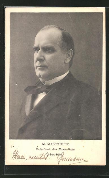 AK M. Mac-Kinley, Präsident der USA 0