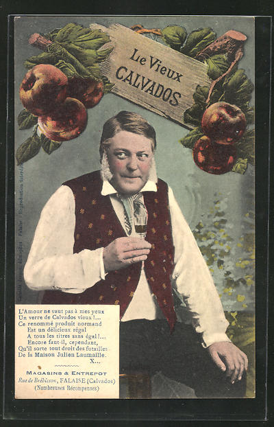 AK Le Vieux Calvados, Alkohol-Reklame