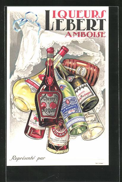 Lithographie Liqueurs Lebert - Amboise, Reklame 0