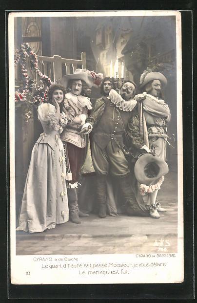 AK Cyrano de Bergerac, Cyrano à de Guiche, Le quart d`heure..., Theater