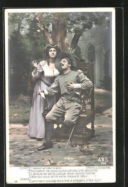 AK Cyrano de Bergerac, Cyrano répètant par coeur la lettre, Theater